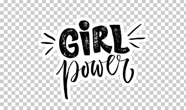 Girl power clipart graphic transparent library Sticker Girl Power Brand Logo PNG, Clipart, Area, Black, Black And ... graphic transparent library
