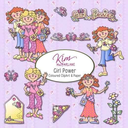 Girl power clipart clip art Kim\'s ClipArt - Girl Power clip art