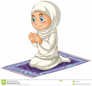 Girl praying clipart picture library library Muslim Girl Praying Clipart   Free Images at Clker.com - vector clip ... picture library library