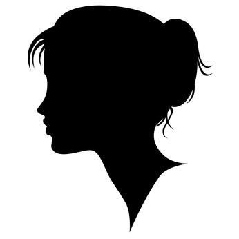 Teenage girl silhouette clipart picture transparent stock Woman Profile Silhouette Clipart | Free download best Woman Profile ... picture transparent stock