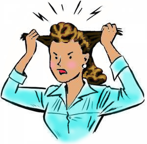 Girl pulling her hair clipart image free library Woman Pulling Her Hair Out Clipart | Free download best Woman ... image free library