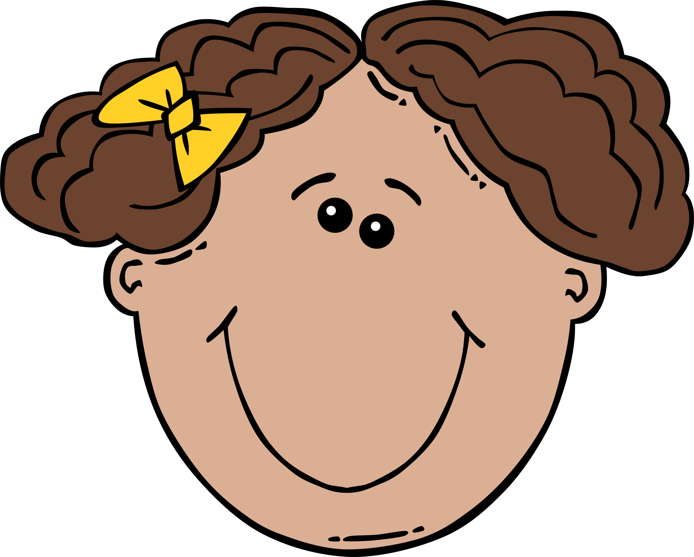 Girl pumpkin face clipart picture free library Cartoon Girl Faces Group (62+) picture free library