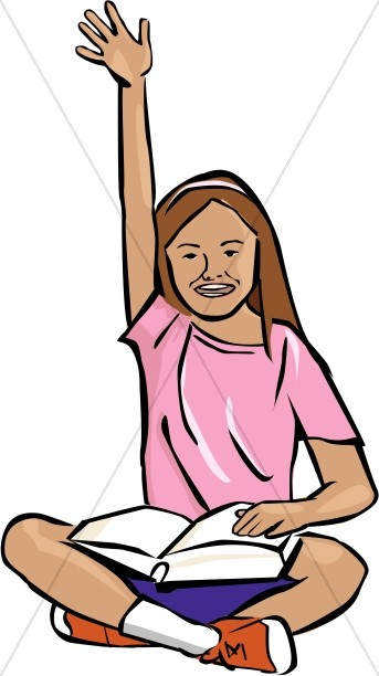 Girl raising hand in school silhouette clipart clip black and white library Raising Hand Clipart | Free download best Raising Hand Clipart on ... clip black and white library