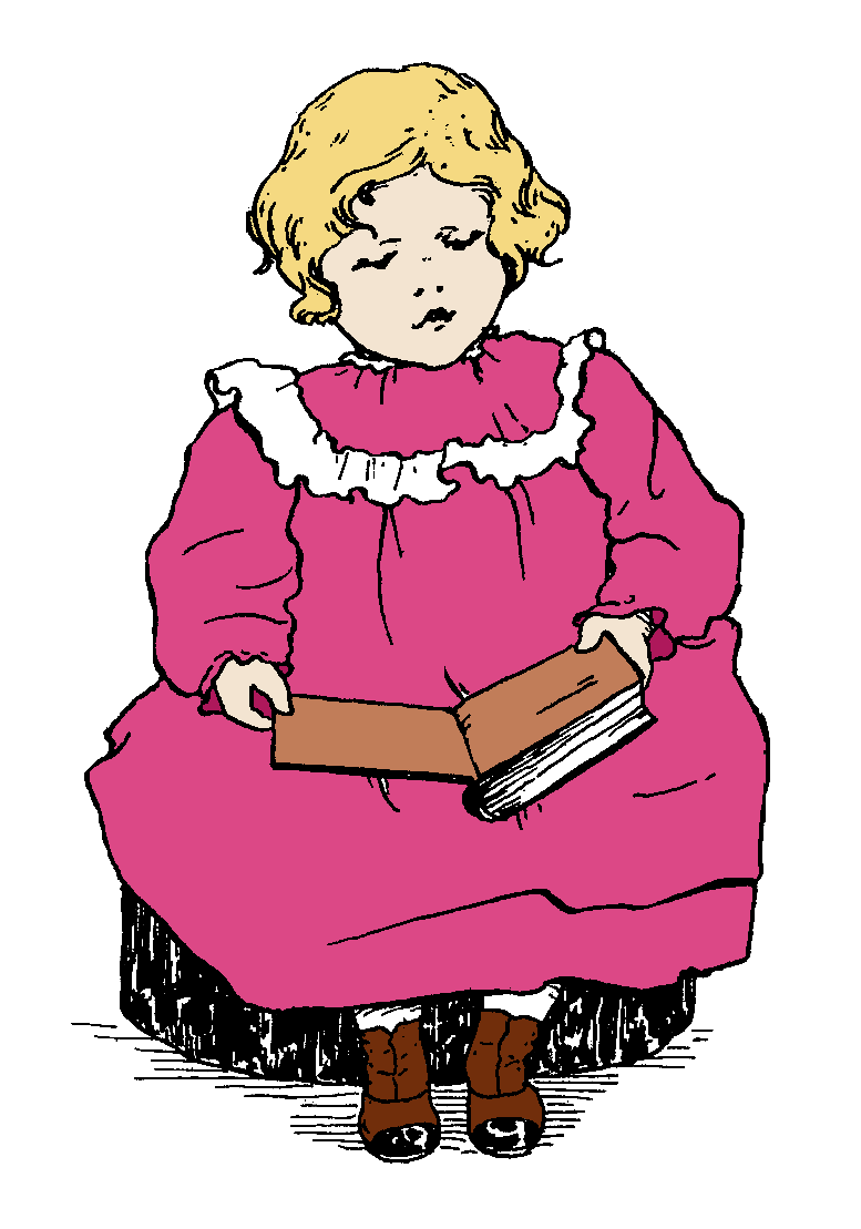 Little girl reading a book clipart png freeuse library The Graphics Monarch: Craft Printables Gift Tags Digital Girl ... png freeuse library