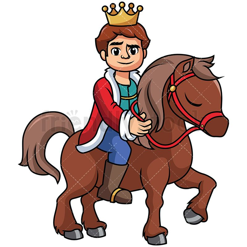 Girl riding a horse in the distance clipart image freeuse stock Young Prince Riding A Horse Vector Cartoon Clipart | บอร์ดหน้าห้อง image freeuse stock