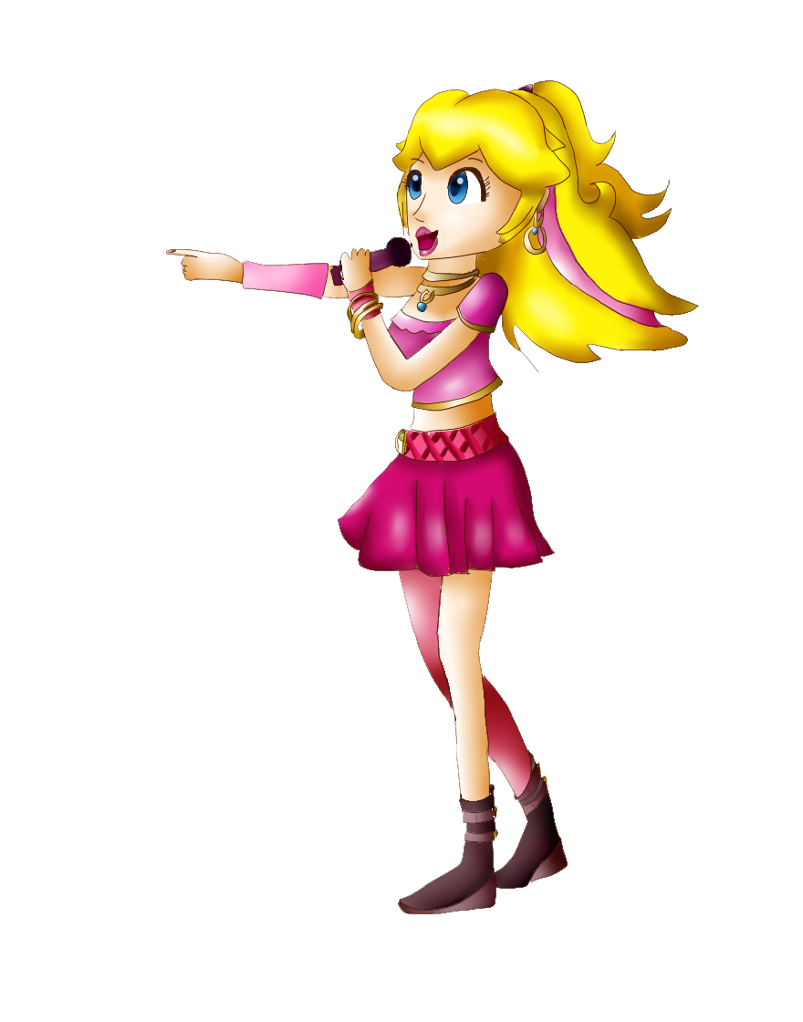 Girl rock star clipart picture royalty free library Princess Peach rock by Zelda-Peach9 on DeviantArt picture royalty free library