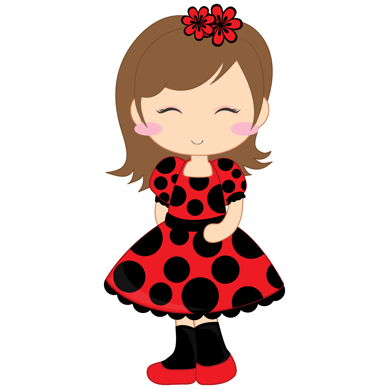 Girl rock star clipart image free library Girl and Ladybugs Clip Art. | Oh My Fiesta For Ladies! image free library