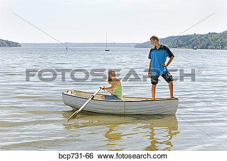 Girl row boat clipart jpg download Stock Images of Boy and girl in row boat bcp731-66 - Search Stock ... jpg download