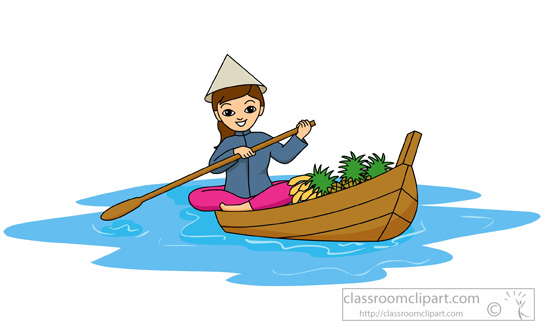 Girl row boat clipart jpg free download Vietnam boat people clipart - ClipartFest jpg free download