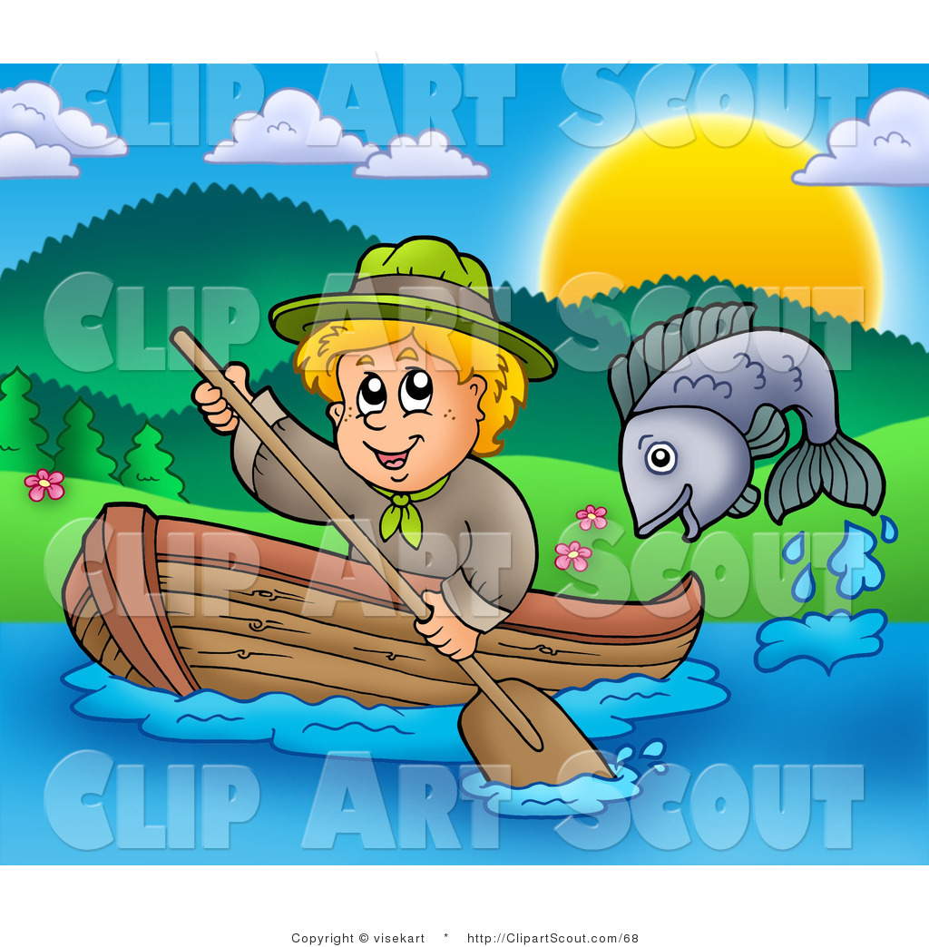 Girl row boat clipart banner Royalty Free Boat Stock Scout Designs banner
