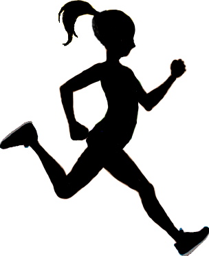 Silhouette runner clipart picture stock Girl running running girl free download clip art on clipart 3 ... picture stock