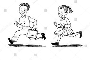 Girl running clipart black and white vector free library Girl running clipart black and white 5 » Clipart Portal vector free library