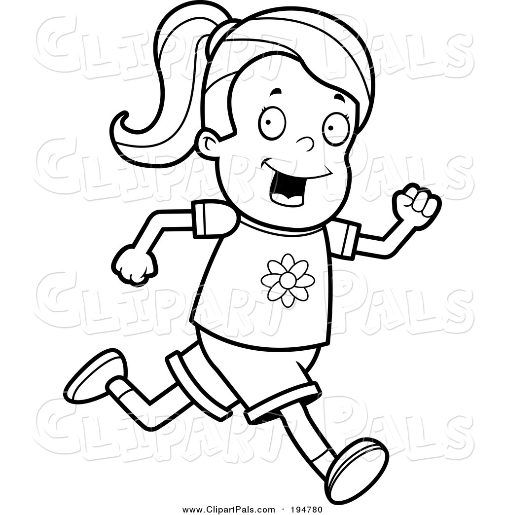 Girl running clipart black and white svg transparent For Clipart Of Running 42 427379 Foal Colt Horse | Clip Art svg transparent
