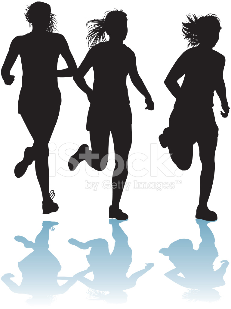 Girl running track clipart banner freeuse Girls Running Track Meet, Cross Country Stock Vector - FreeImages.com banner freeuse