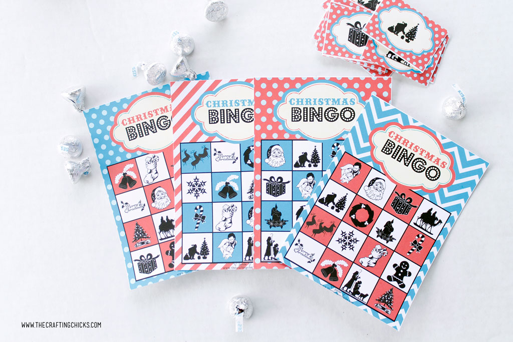 Girl scout cookie 2018 bingo game printable clipart banner black and white download Christmas Bingo *Free Printable Download - The Crafting Chicks banner black and white download