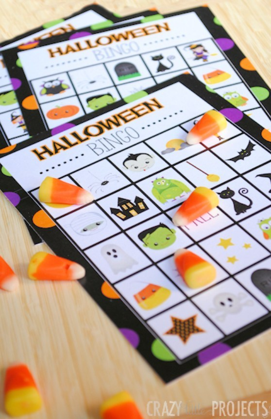 Girl scout cookie 2018 bingo game printable clipart vector free stock Halloween Bingo - Cute Free Printable Game – Fun-Squared vector free stock