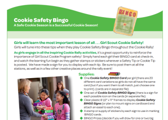 Girl scout cookie 2018 bingo game printable clipart png library download Girl Scout Cookie Safety Bingo – For Parents,Teachers, Scout Leaders ... png library download