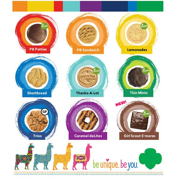 Girl scout cookie 2018 bingo game printable clipart jpg library Printable Girl Scout Cookies Bingo - 2016 Cookie Lineup For AB - 618 ... jpg library