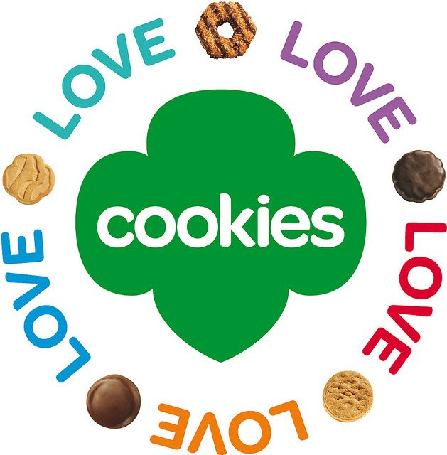 Girl scout cookie sale clipart image black and white download Girl Scout Cookies - Clip Art Library image black and white download