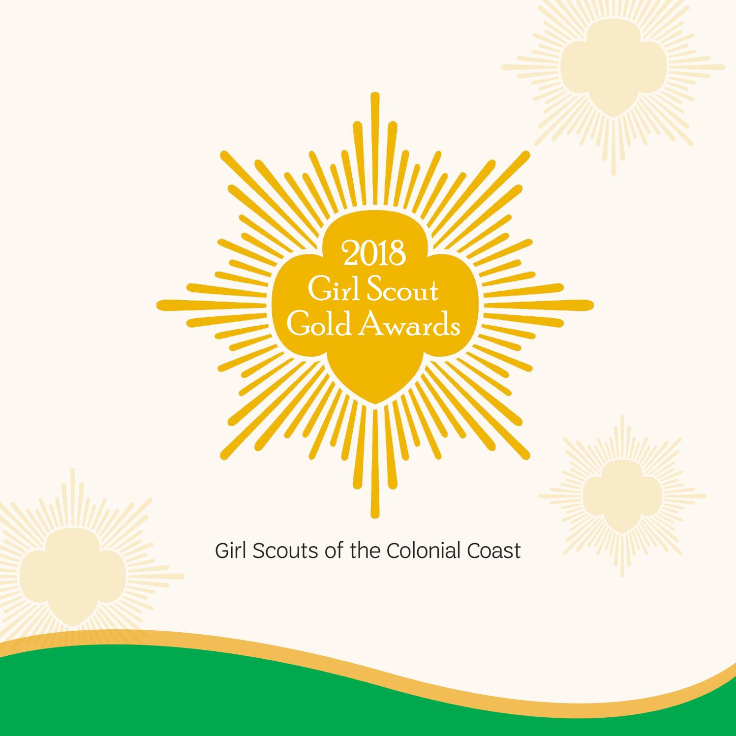 Girl scout gold award clipart image library library 2018 Girl Scout Gold Awards - GSCCC by Girl Scouts of the Colonial ... image library library