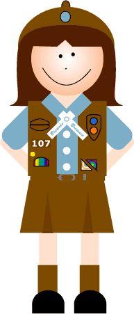 Girl scout troop clipart jpg free stock 161 Best Girl Scout Clip Art - Brownie images in 2013 | Brownie girl ... jpg free stock
