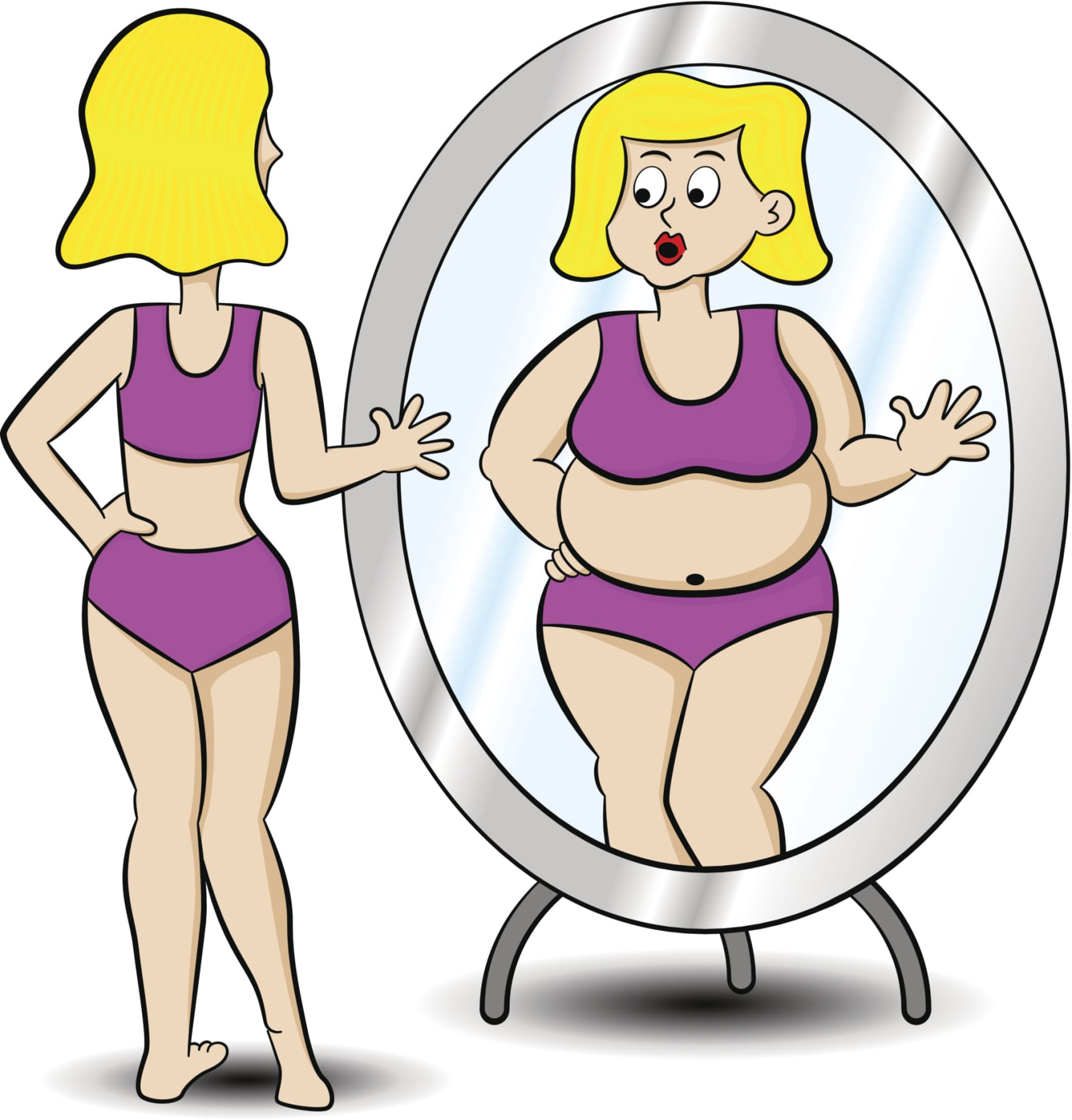 Girl seeing a doctor about anorexia clipart black and white Do I Have an Eating Disorder? Take New Online Test | Promises ... black and white