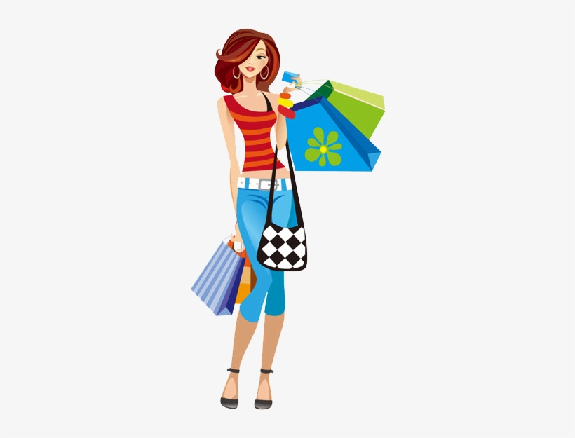 Girl shopping clipart free transparent download Download Free png Girl Shopping Clipart Png Shopping Girl Clipart ... transparent download