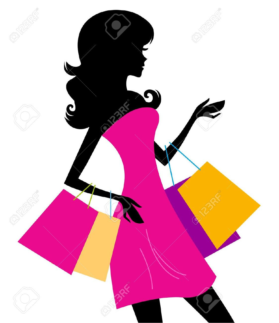 Girl shopping clipart free svg royalty free stock Woman Shopping Clipart | Free download best Woman Shopping Clipart ... svg royalty free stock