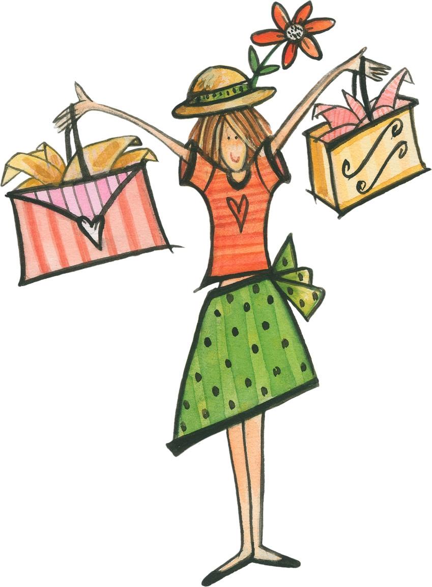 Girl shopping clipart free clip Girl Shopping Clipart - Free Clipart clip