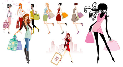 Girl shopping clipart free vector download Free Woman Shopping Clipart, Download Free Clip Art, Free Clip Art ... vector download