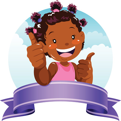 Girl showing id clipart black and white library Clip Art, Vector Images & Illustrations - iStock black and white library