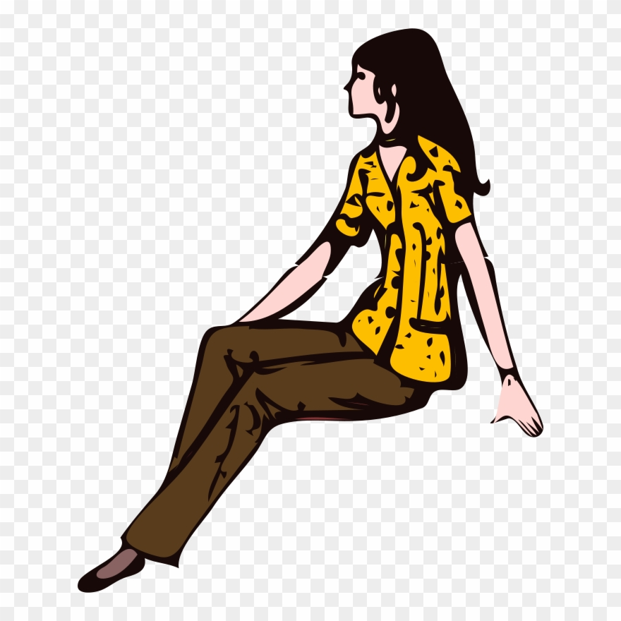 Sitting woman clipart graphic Sitting Girl Woman Manspreading Seat - Woman Sitting Clipart - Png ... graphic
