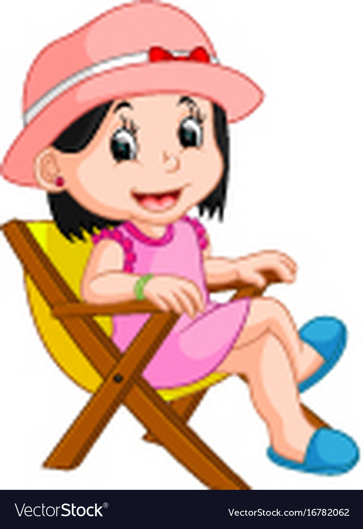 Girl sitting on chair clipart banner transparent library Girl sitting on chair banner transparent library