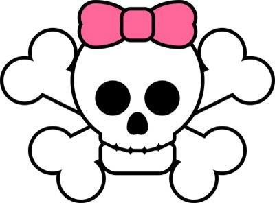 Girl skull and crossbones clipart