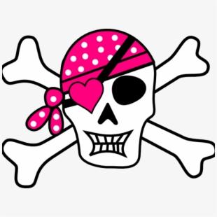 Girl skull and crossbones clipart clipart stock Skeleton Head Clipart Animated - Pirate Skull And Crossbones Girl ... clipart stock