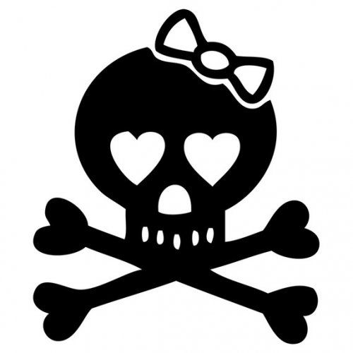 Girl skull and crossbones clipart picture royalty free stock Image detail for -Girly Skull and Crossbones with bow decal 1 ... picture royalty free stock