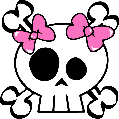 Girl skull and crossbones clipart svg stock Free Girl Skull Cliparts, Download Free Clip Art, Free Clip Art on ... svg stock