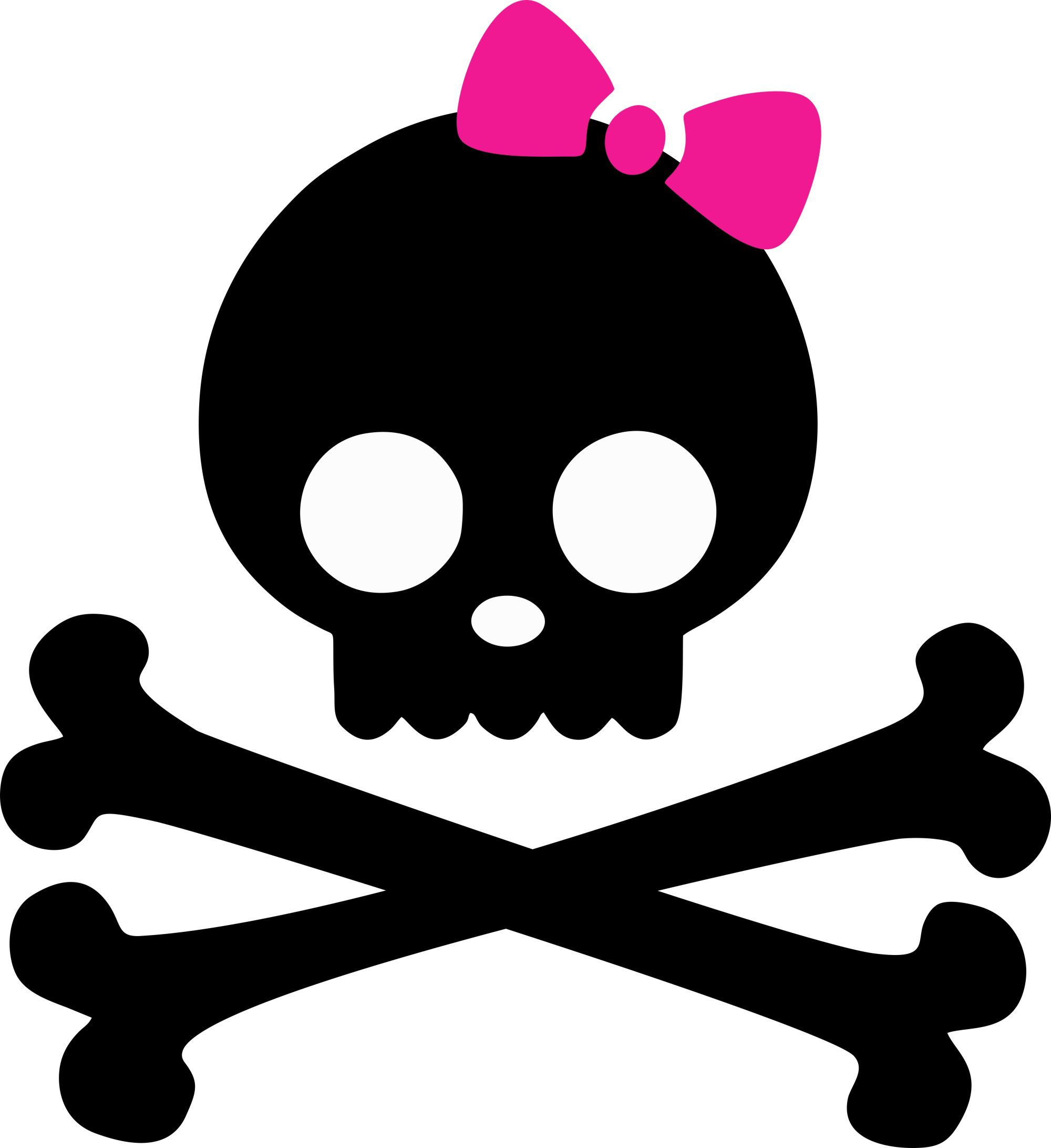 Girly skulls clipart banner transparent library Skulls and Bones Iron On with Pink Bow | Baby N Toddler - ClipArt ... banner transparent library