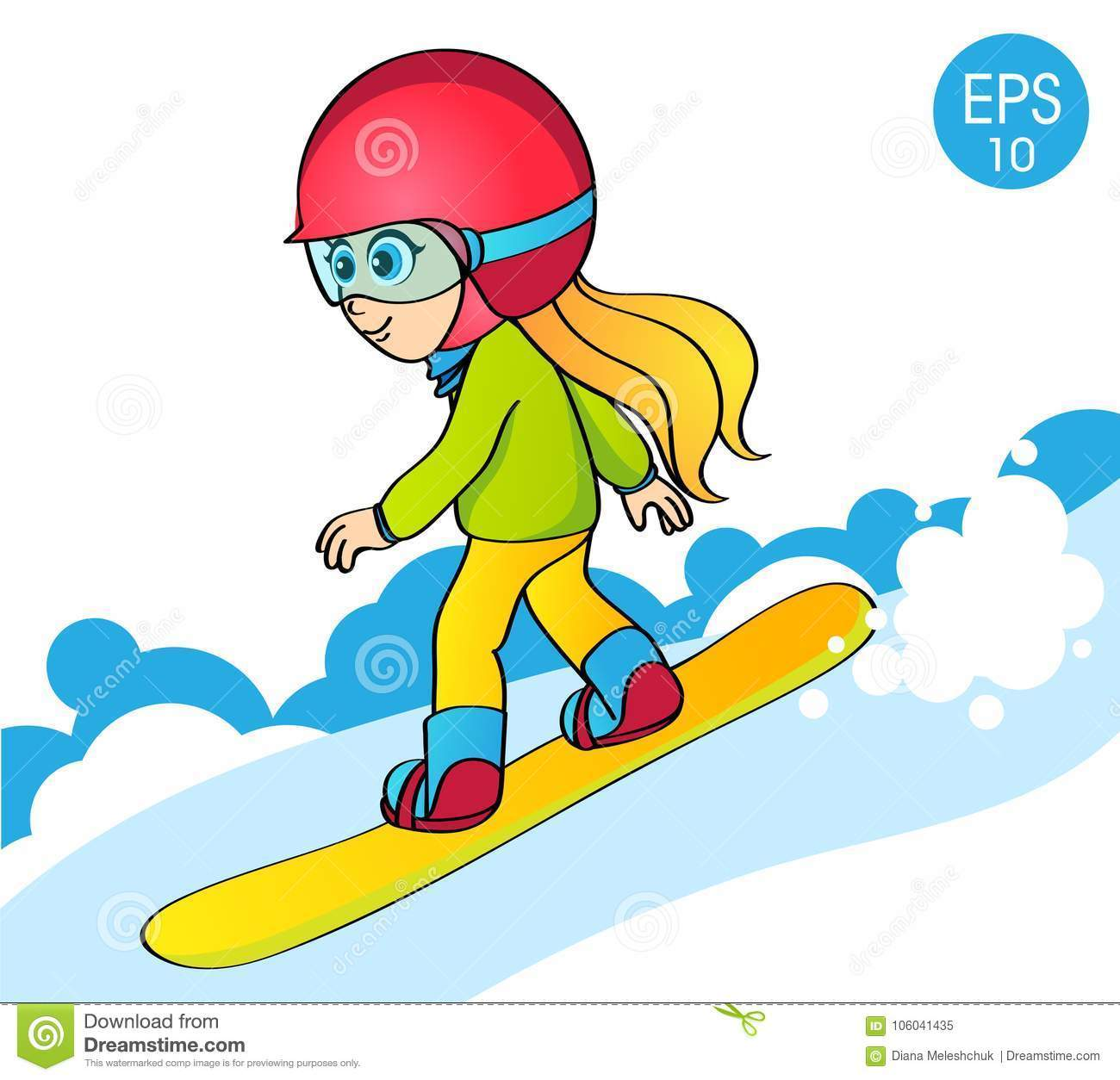 Girl snowboarding clipart 6 » Clipart Portal clip art royalty free stock