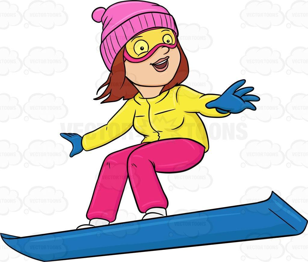 Best Free Snowboarding Girl Clip Art Images ~ Vector Images Design png freeuse library