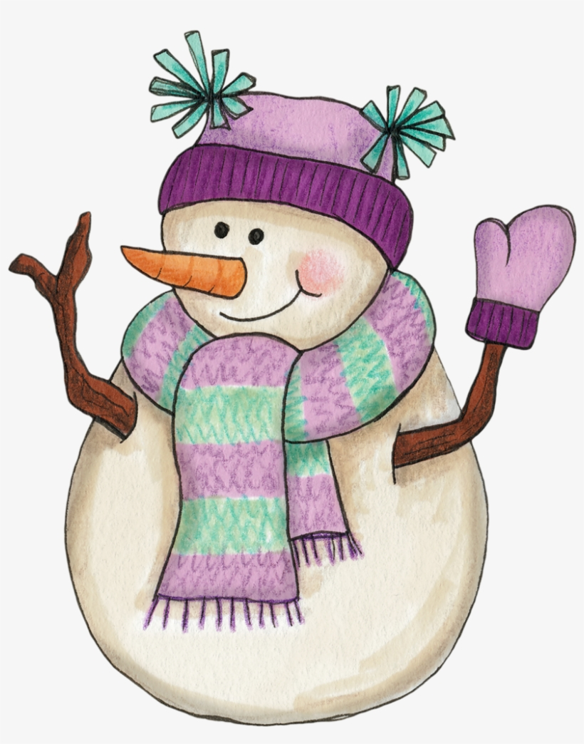 Girl snowman clipart picture Snowman In Lavender - Girl Snowman Clipart - Free Transparent PNG ... picture