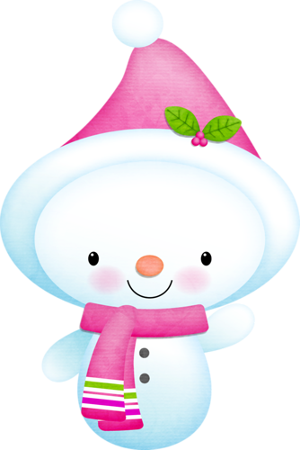 Pink snowman clipart svg royalty free library Chilly Cheer | CLIP ART - SNOWMAN - CLIPART | Snowman images, Snow ... svg royalty free library
