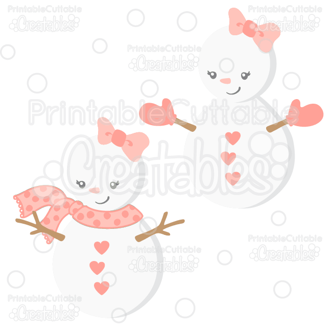 Girl snowman clipart svg free download Cute Girl Snowman SVG Cut File & Clipart svg free download