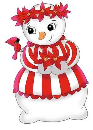 Girl snowman clipart clip library download snowmen.quenalbertini: Cute girl snowman | ♥ Snowmen ♥ | Christmas ... clip library download