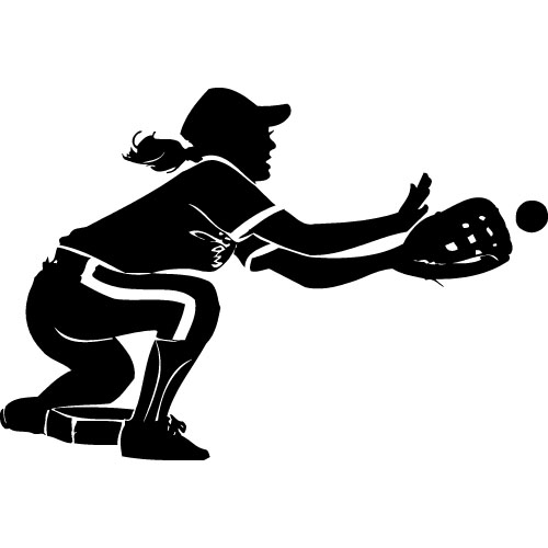 Ladies softball clipart clip art black and white stock Girls softball clipart - Cliparting.com clip art black and white stock