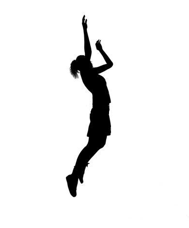 Girl stick figure basketball clipart banner black and white Girl Basketball Player Clipart | Clipart Panda - Free Clipart Images ... banner black and white