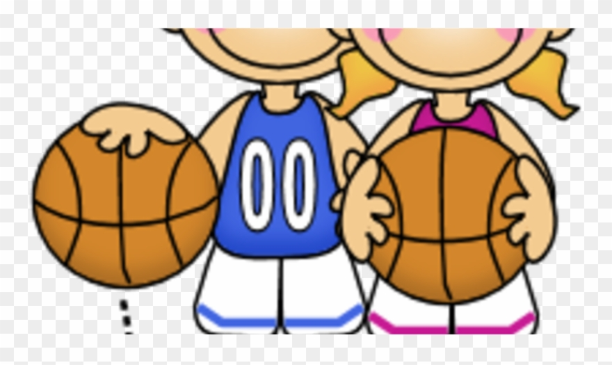 Girl stick figure basketball clipart picture free stock Boy And Girl With A Basketball Clipart - Png Download (#1794148 ... picture free stock