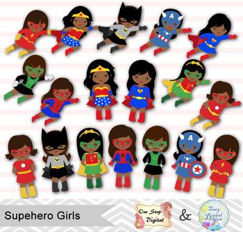 Girl superheroes clipart graphic transparent download 27 Little Girl Superhero Clip Art, African American Superhero Girls ... graphic transparent download