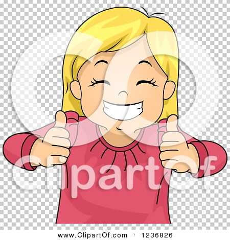 Girl thumbs up clipart banner freeuse stock Clipart of a Happy Blond Girl Grinning and Holding Two Thumbs up ... banner freeuse stock