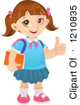 Girl thumbs up clipart picture Thumbs Up Cartoon Girl A Book And Thumb Up #NcWWzl - Clipart Kid picture